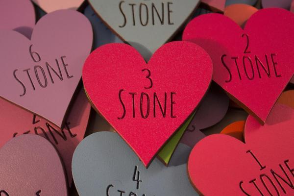 Amatic Font Stone Heart