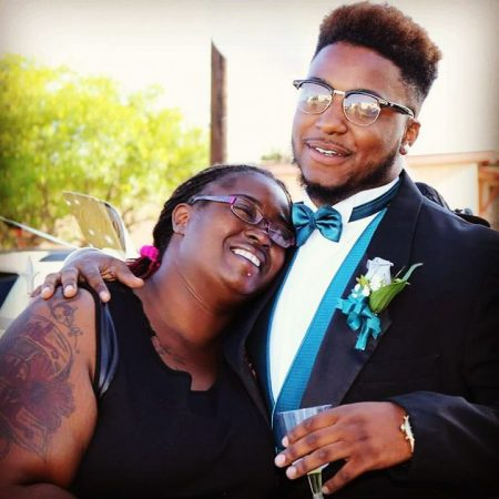 Sevean Brown-Giles with his mom, Dianna Brown