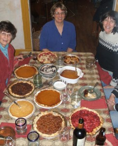 Annual Thanksgiving pie making tradition