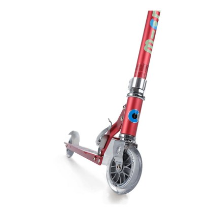 Micro Sprite 2 Wheel Scooter Floral Dot Raspberry Front