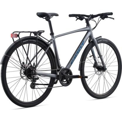 Giant Cross City Disc 2 Equipped Flat Bar Road Bike 2022 Rear