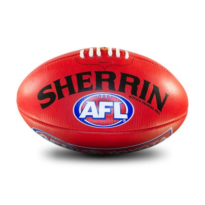 Sherrin AFL Replica Red Leather Training Football