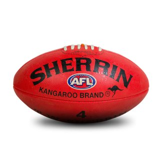 Sherrin KB All Surface Red Football - Size 4 Hero
