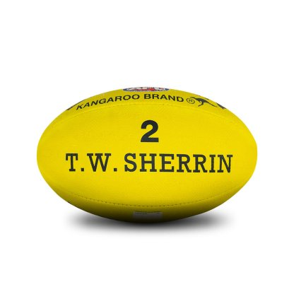 Sherrin KB All Surface Yellow Football - Size 2 Rear