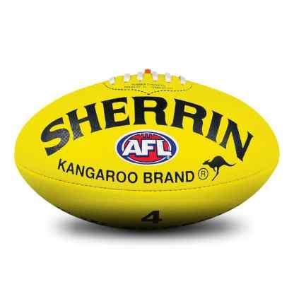 Sherrin KB All Surface Yellow Football - Size 4 Hero