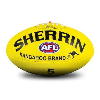 Sherrin KB All Surface Yellow Football - Size 5 Hero
