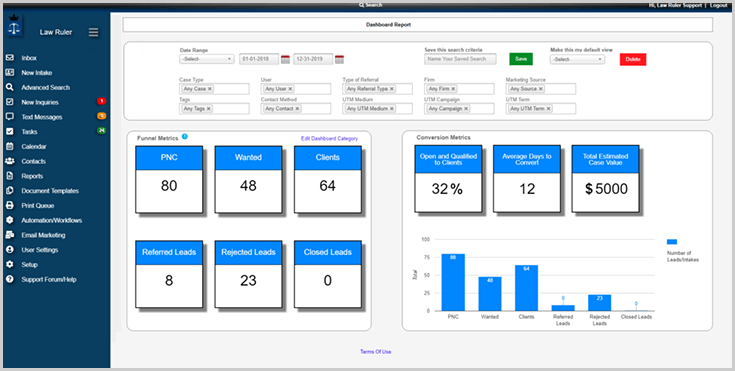 lawruler ui How to Drive Client Growth with Digital Marketing and a CRM Solution
