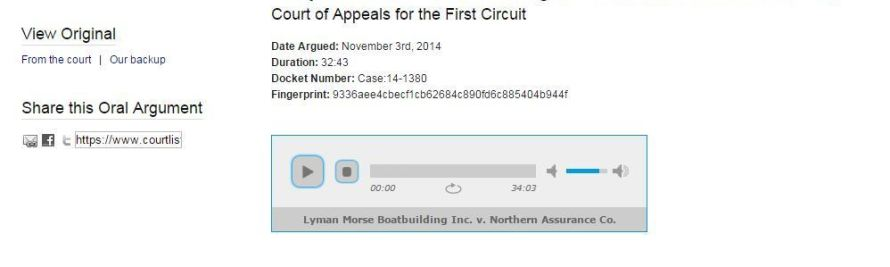 CourtListener Adds Oral Arguments to its Free Research Site