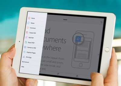 Acrobat DC Mobile App Tools View On iPad