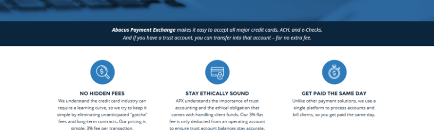 Abacus Unveils Integrated, Secure Credit Card and E-Check Processing