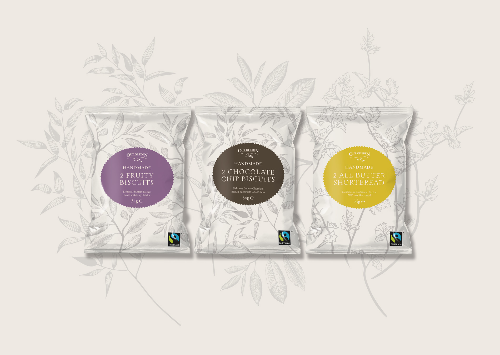Out of Eden - Biscuit Packaging Design Concepts