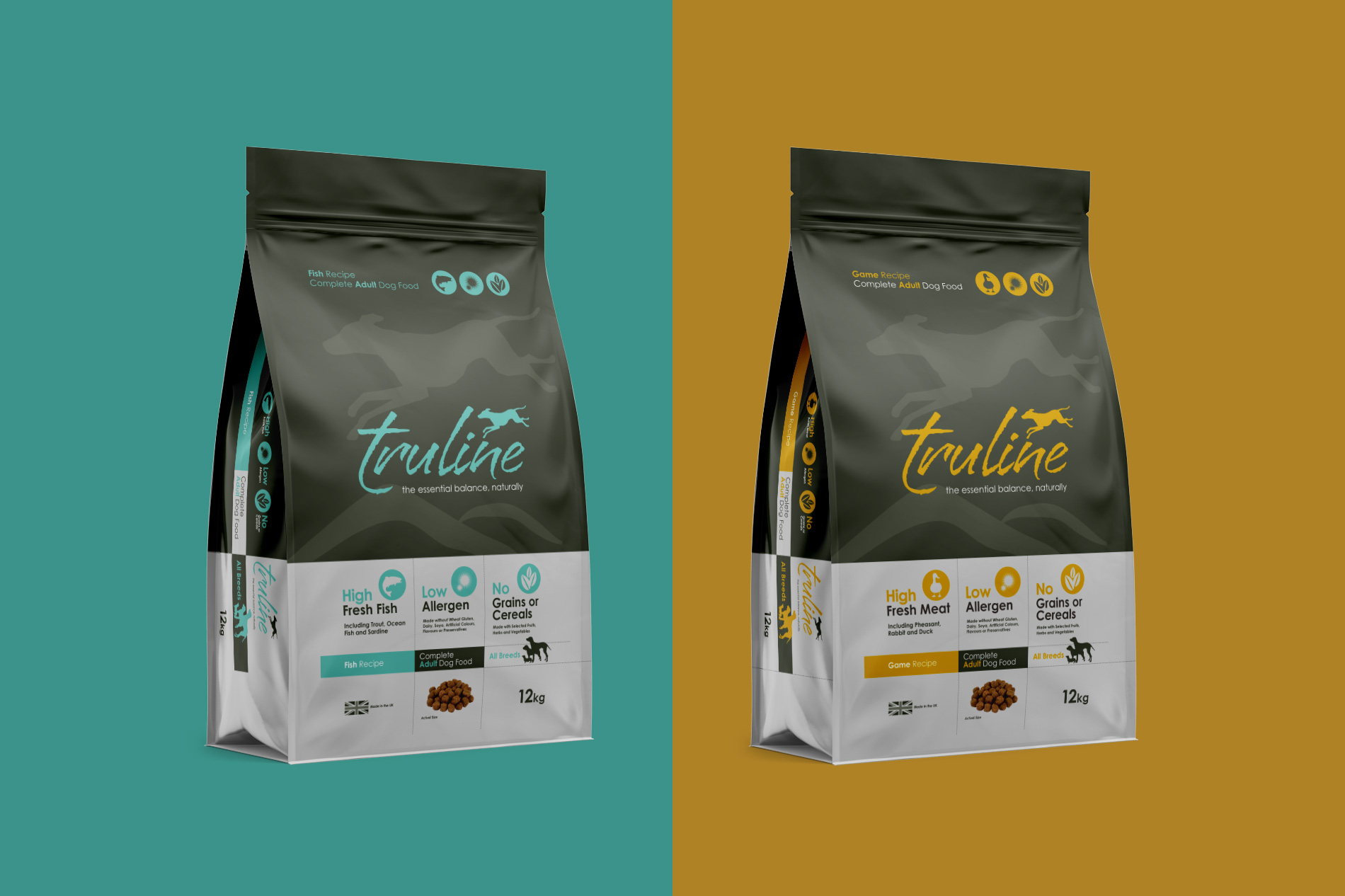 Branding & Packaging design for Truline, Pero Pet Foods