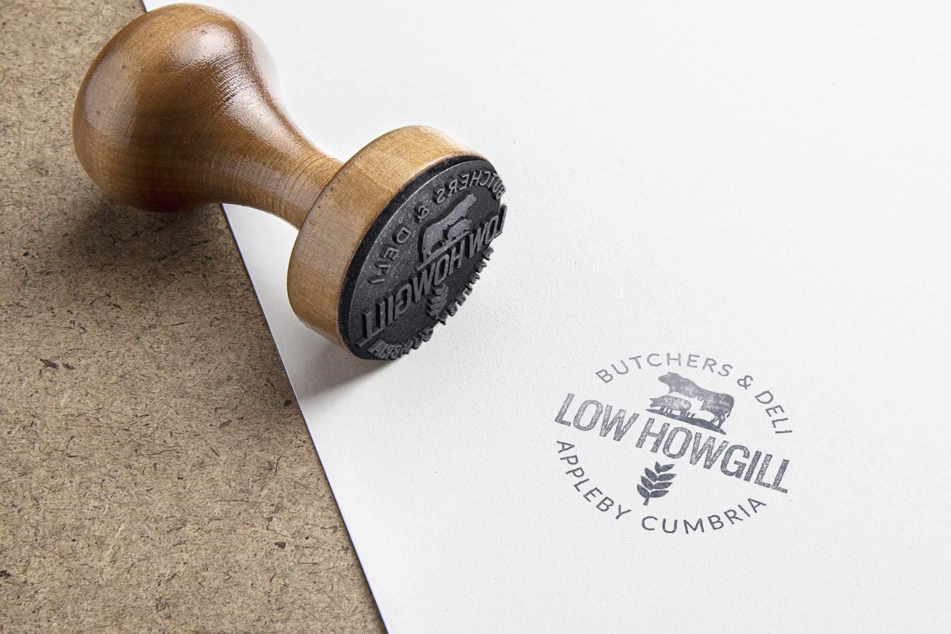 Low Howgill Butcher Brand Logo Design