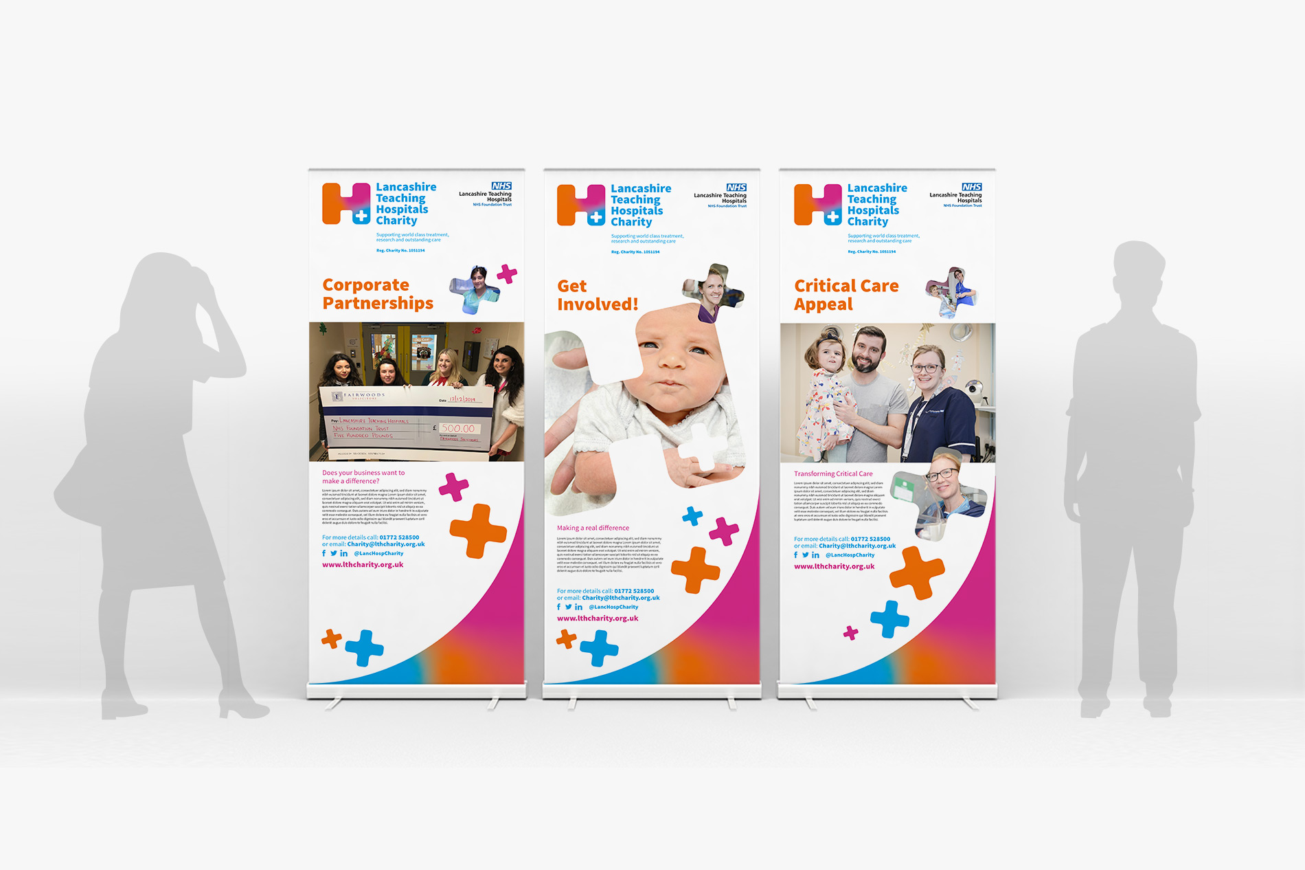 Lancashire Teaching Hospitals Charity Roller Banner design