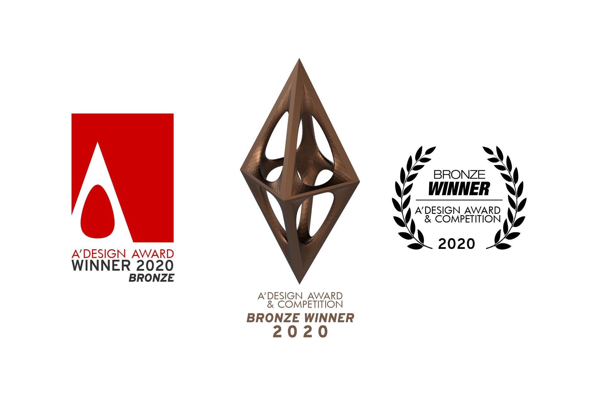 A'Design Award Bronze Logo Set