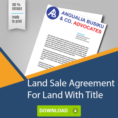 LAND SALE AGREEMENT FOR LAND WITH TITLE
