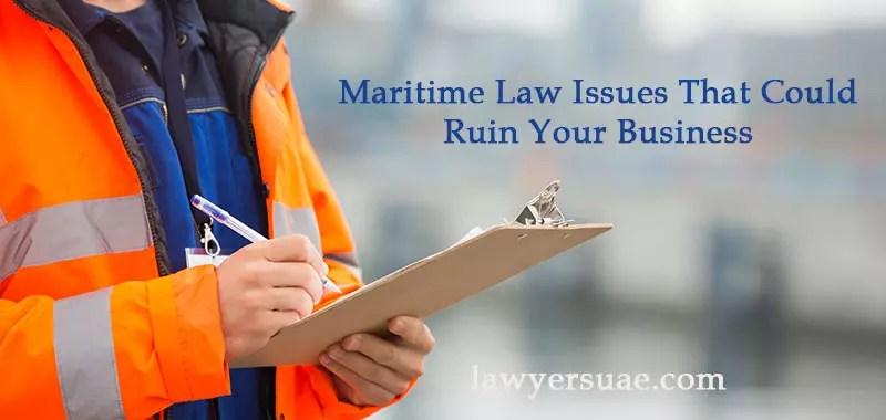 UAE Maritime Law Issues