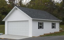 house with white garage