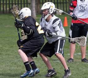 youth lacrosse body defense before stick checks