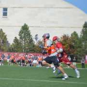 Denver University Outlaws fast break lacrosse