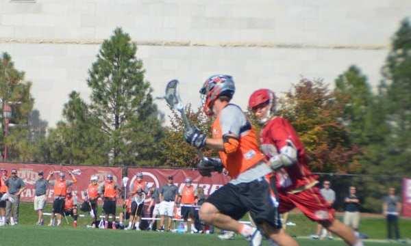 Denver University Outlaws fast break lacrosse