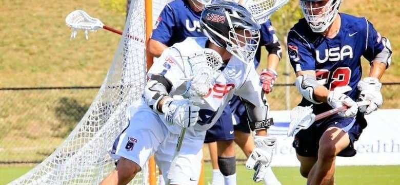 usa lacrosse blue white scrimmage