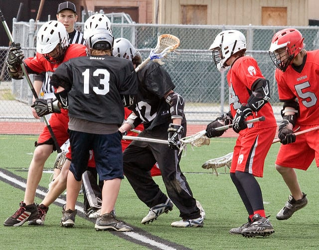 youth lacrosse ground ball scrum lacrosse library