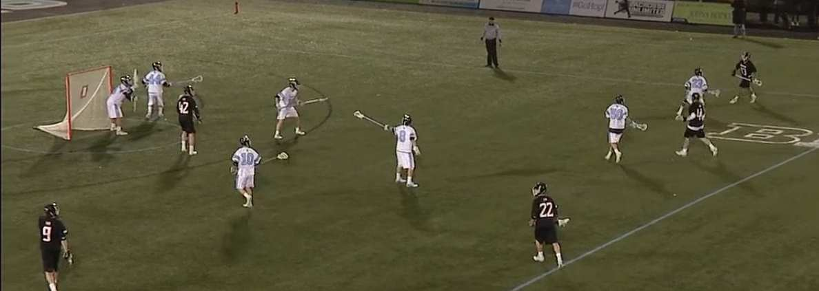 towson pairs offense play vs hopkins college lacrosse