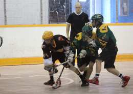 box lacrosse 2 on 1 cross over pregame warm up practice drill