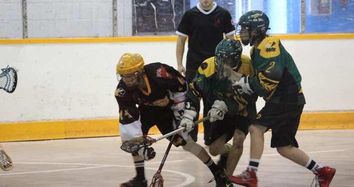 box lacrosse 2 on 1 cross over pregame warm up practice drill