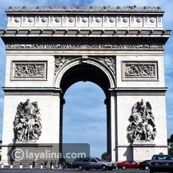 شهر العسل في باريس - قوس النصر
