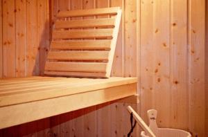 sauna wooden bench