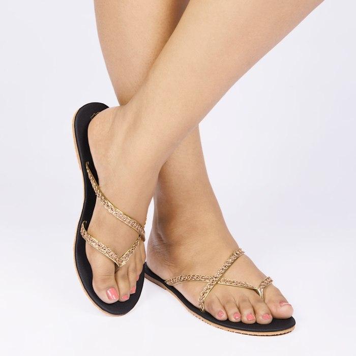 Laydeez Rose gold Strappy Sandal
