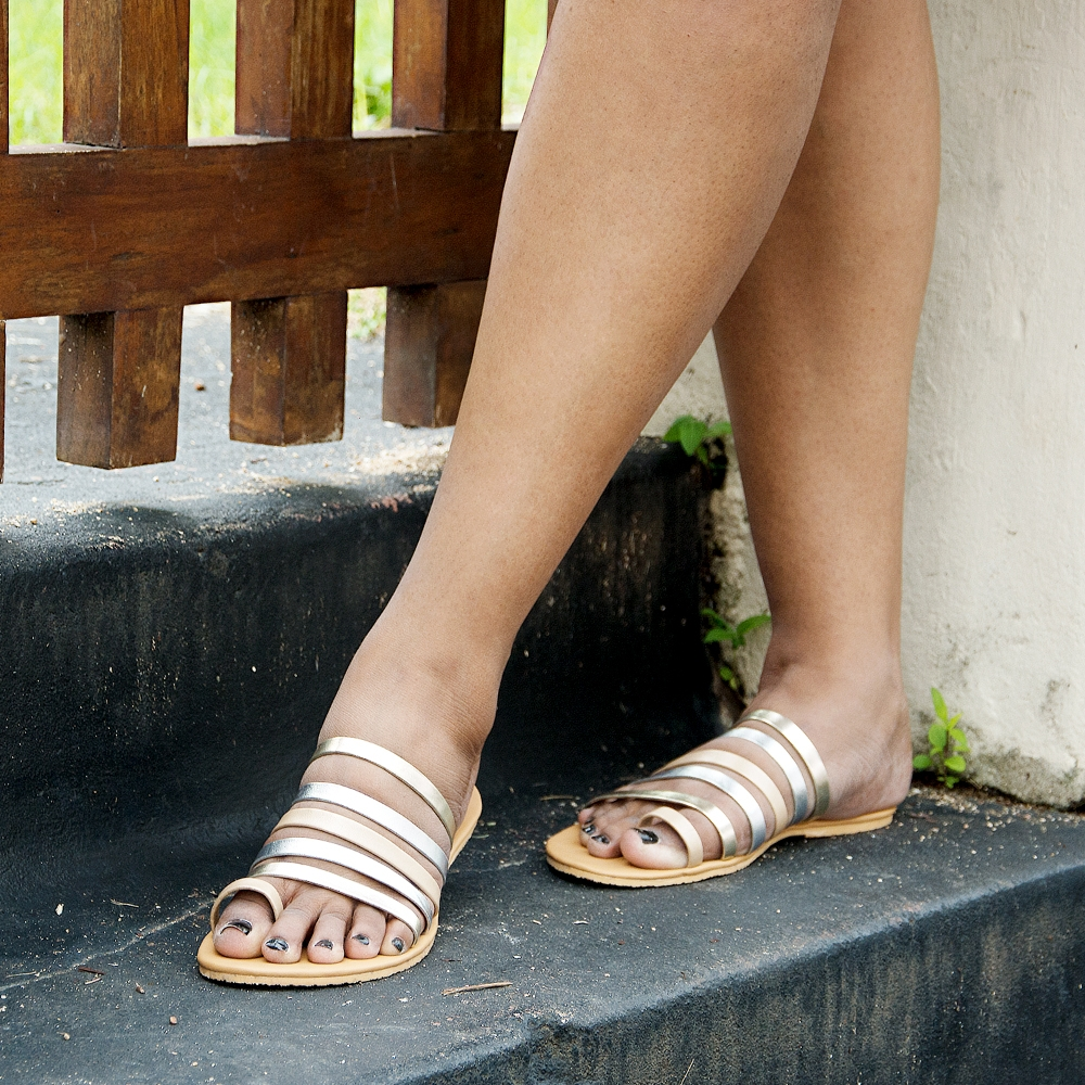 Laydeez Multi Metallic Sandals
