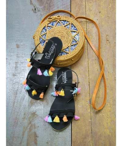 Candy tassel sandals