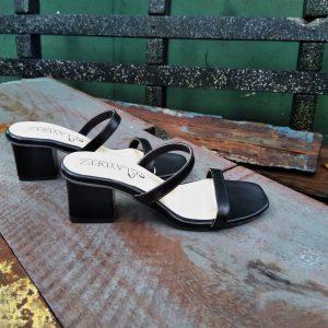 Laydeez Two Strap Simple Heels in Black