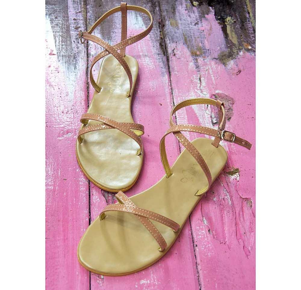 Laydeez Cross Lady Sandals in Nude pink