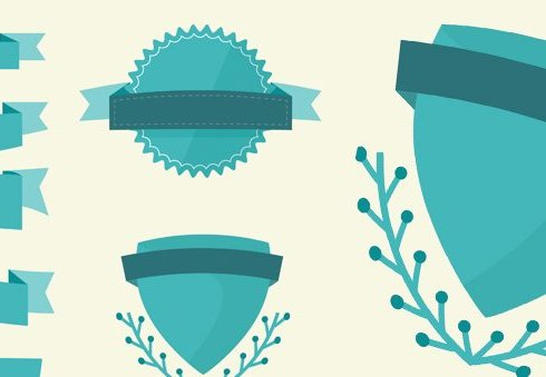 Layerform Freebie - Vector Ribbons and Badges