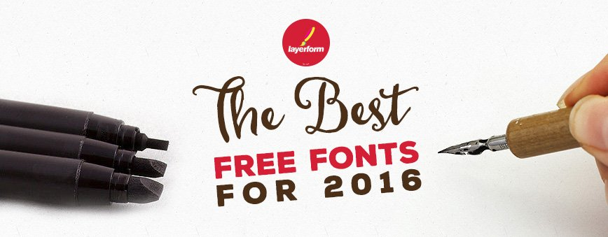 Best Free Fonts For 2016