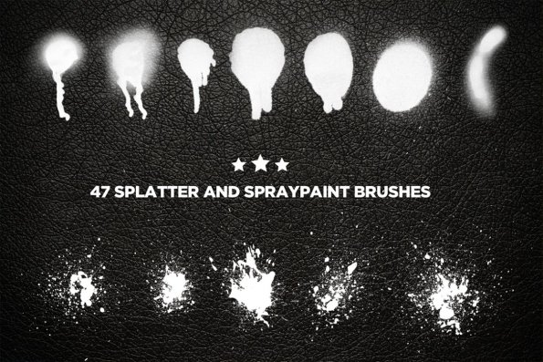 Splat and Spray Photoshop Brushes