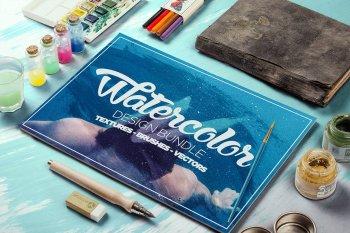 The Watercolour Design Bundle by Layerform Design Co