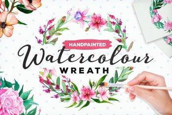 FREE Handpainted Watercolour Wreath by Layerform Design Co