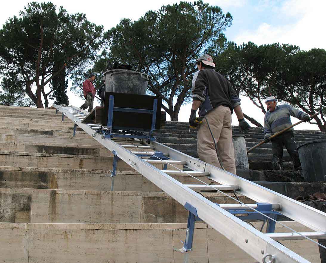 Move materials up steep inclines with the Slopelift