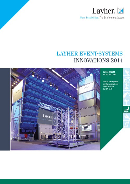 Layher Event Systems Innovations 2014