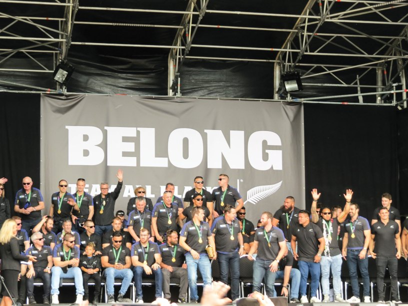 All Blacks welcome home stage using Layher Keder Roof