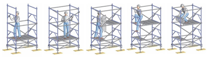 Safer assembly with advanced guardrail