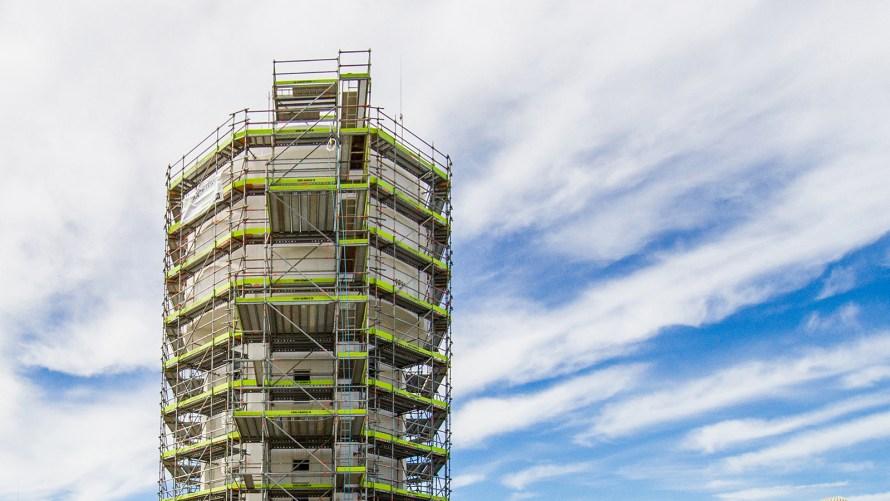 Allround the Water Tower by Scaffold Marlborough
