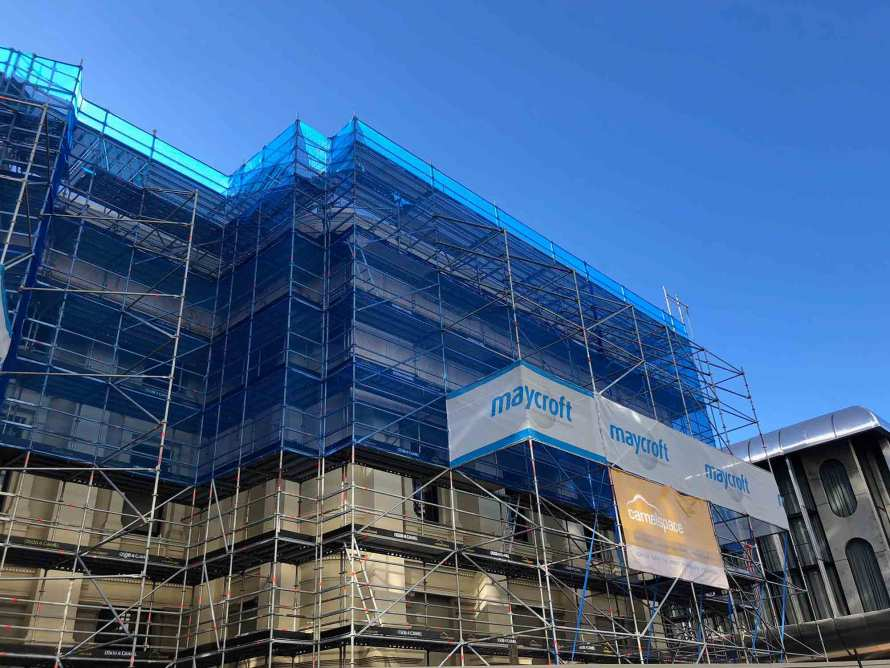 Camelspace provided scaffolding for Wellington Town Hall strengthening project