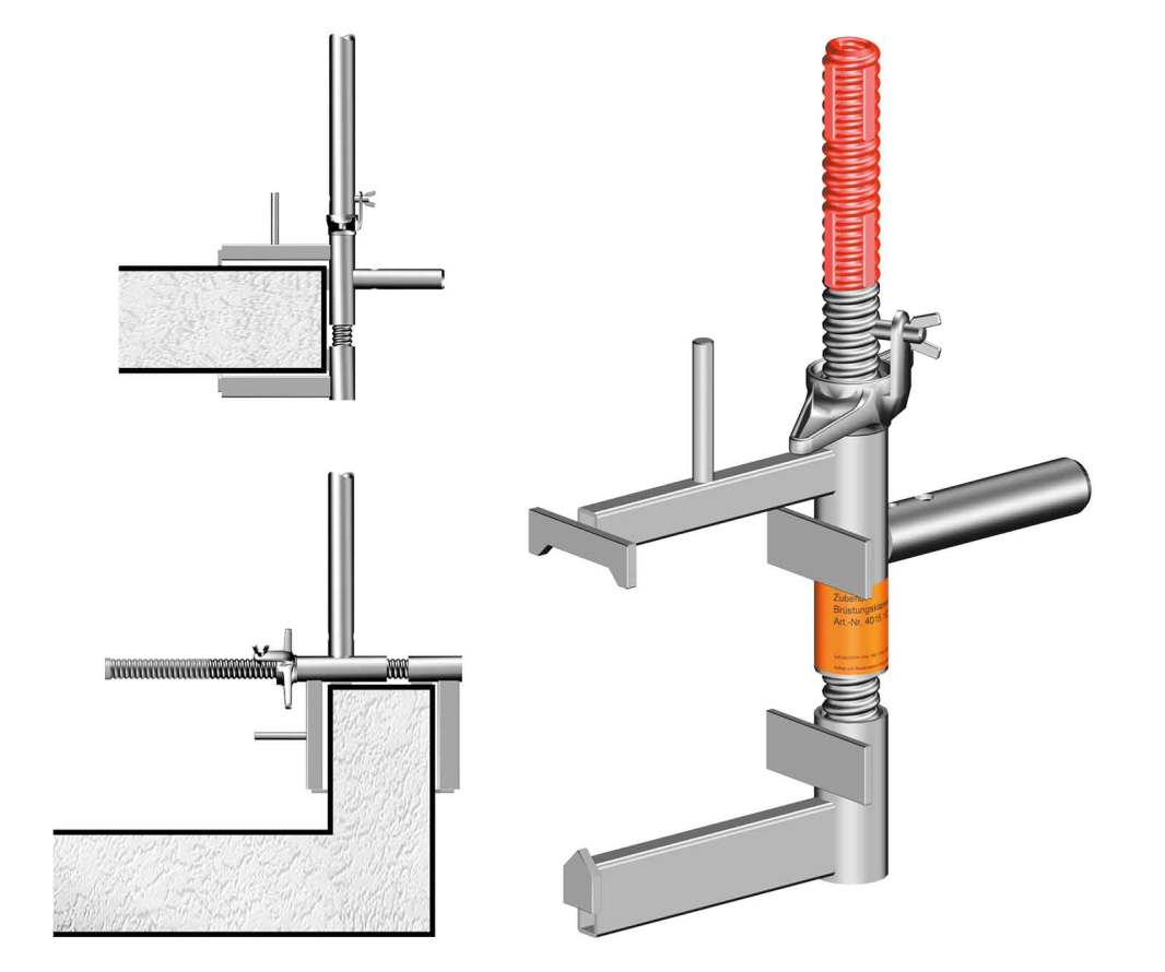 Edge Protection Clamps can be connected to floor slabs or parapets