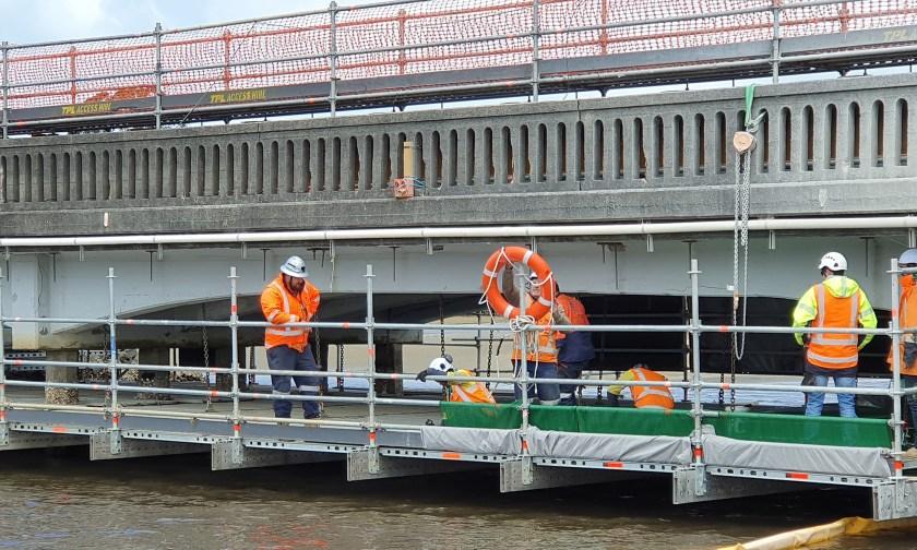 FlexBeam provides access on low clearance bridge maintenance